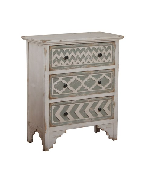 Accent Table Classic White MDF Aubrey Rectangle Table PWL-14A2021