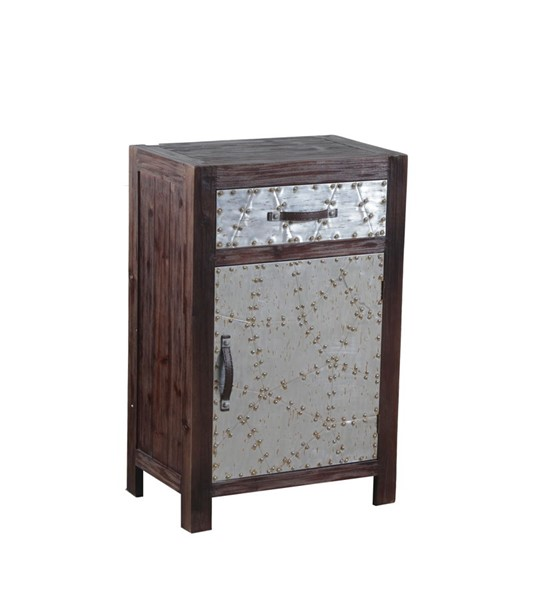 Braddock Rustic Iron Firwood MDF Storage and Rectangle Cabinet PWL-14A2063CH