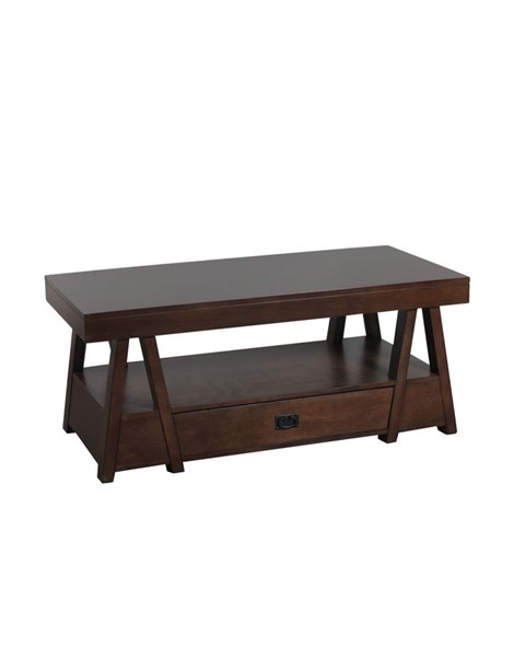 Lancaster Rustic Mocha Poplar MDF Cocktail Table PWL-14A8074CT