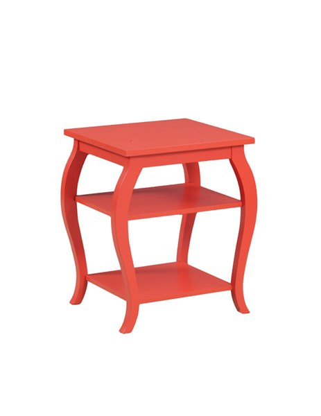 Panorama Contemporary Orange MDF Solid Wood Accent Table PWL-14A8091