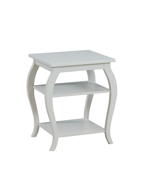 Panorama Contemporary White MDF Solid Wood Accent Table PWL-14A8094