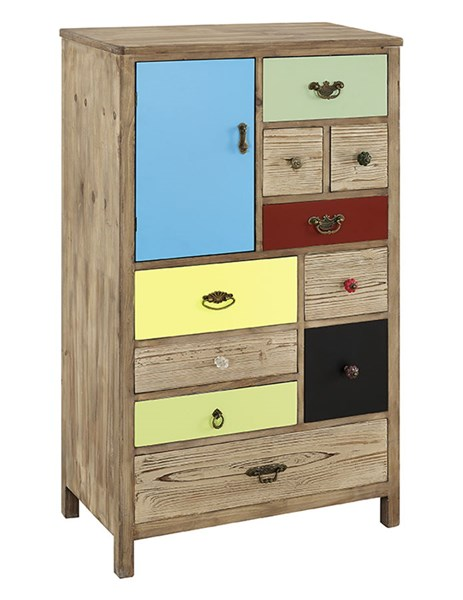 Rustic Natural Fir Wood Iron MDF Pamlico Cabinet PWL-14A8099AC