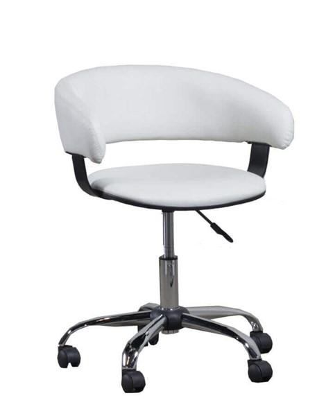 Powell Furniture Home Office White Gas Lift Desk Chair PWL-14B2010W