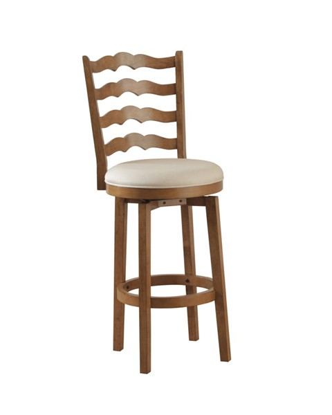 Chestnut Rubberwood Big And Tall Ladderback Bar Stool PWL-14B7004BS