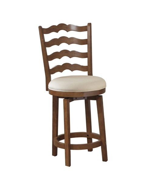 Chestnut Wood Fabric Big And Tall Ladder Back Counter Stool PWL-14B7004CS