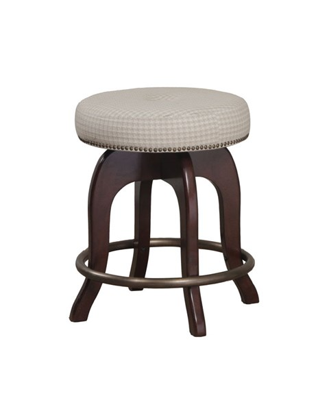 Java Fabric Wood Backless Round Counter Stool PWL-14B8045CS