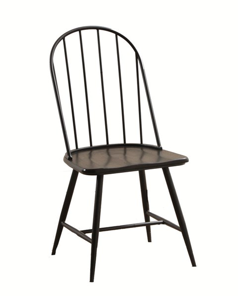 4 Casual Black Brown MDF Metal Tube Sechrest Dining Side Chairs PWL-14D2001SC
