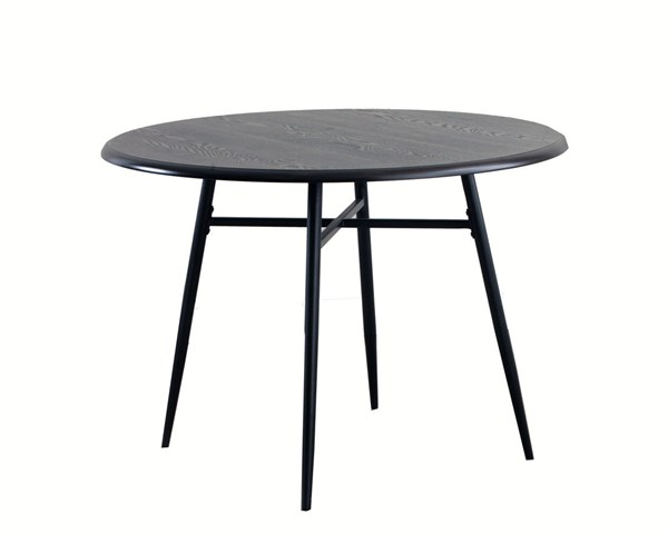 Casual Black Brown MDF Metal Tube Sechrest Dining Table PWL-14D2001DT
