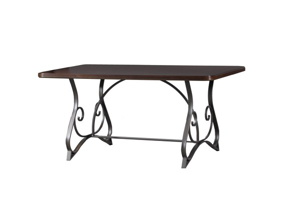 Hamilton Contemporary Black Chrome Rectangle Dining Table PWL-14D2014DT