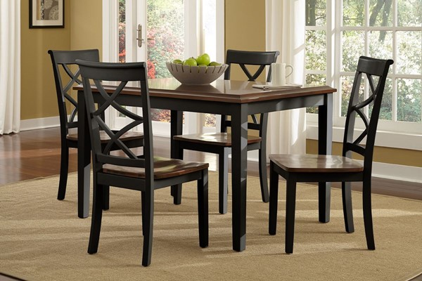 Powell Furniture Harrison Black 5pc Dining Room Set PWL-14D2041BL