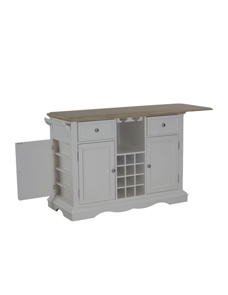 Alton White Two Drawers and Shelves Kitchen Island PWL-14D8073W