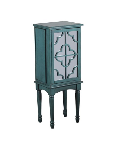 Accent Teal MDF Mazie Bedroom Jewelry Armoire PWL-14J8119T