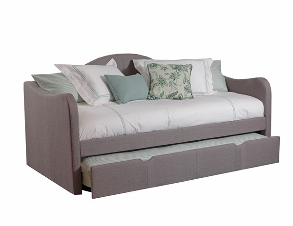 Taupe Fabric Black Plastic Legs CA Fire Foam Upholstered Day Bed PWL-14S2019