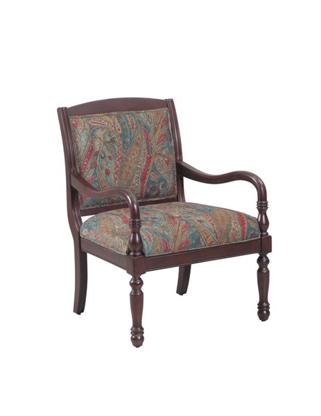 Carina Traditional Cherry Wood Framed Accent Chair PWL-14S2031