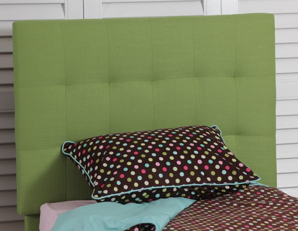 Green Polyester CA Foam Quilted Twin Headboard PWL-14Y2013G