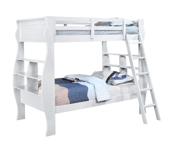 Casey White Pinewood Plywood Particle Board Bunkbed PWL-14Y8100BBW