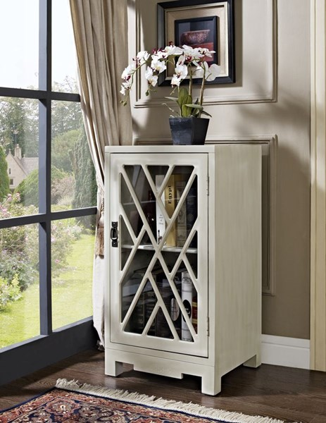 White Wood Glass Geometric Chippendale Side Tables PWL-1123-VAR