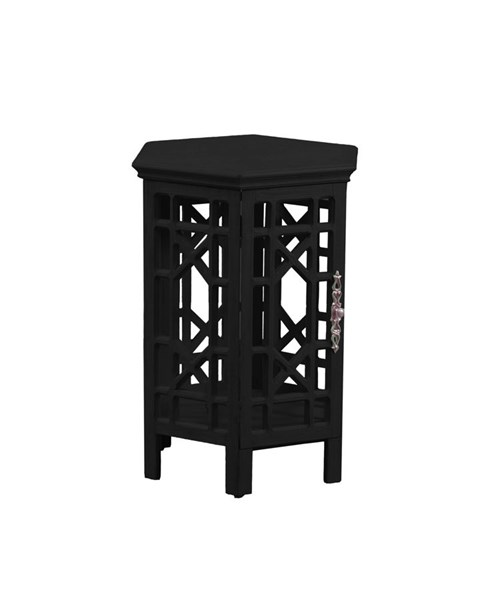 Lakeland Black Firwood MDF Accent Table PWL-15A2006B