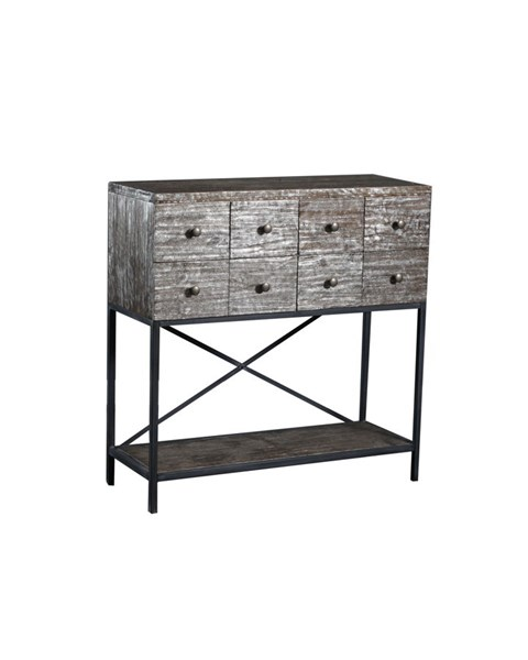 Roscoe Contemporary Silver Foil Firwood Metal Console Table PWL-15A2010C