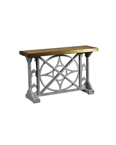 Belmont Modern White Firwood MDF Copper Console Table PWL-15A2014