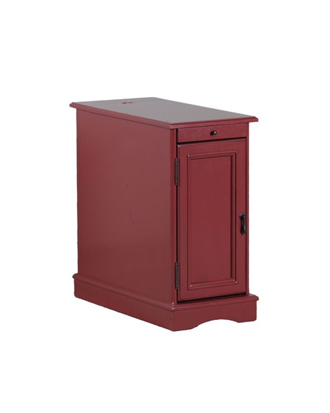 Red Wood MDF Butler Hidden Storage Accent Table PWL-15A2017R