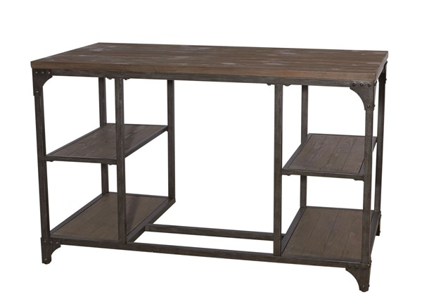 Powell Furniture Benjamin Weathered Driftwood Desk PWL-15A2026D