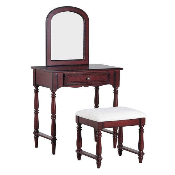 Powell Furniture Cherry Chadwick Vanity with Stool PWL-15A7033