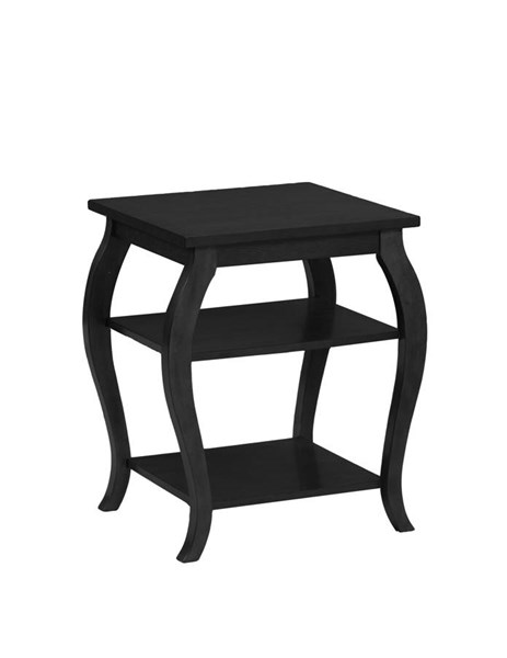 Panorama Contemporary Black MDF Solid Wood Accent Table PWL-15A8142