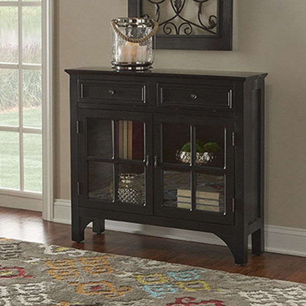 Campbell Traditional Black MDF Glass Console PWL-15A8185BK