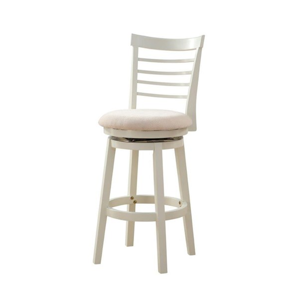 Harbour Casual White Rubberwood PU Bar Stool PWL-15B8152BS
