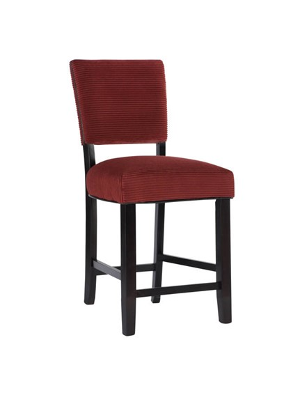 2 Powell Furniture Raya Red Counter Stools PWL-15BO7164CSX