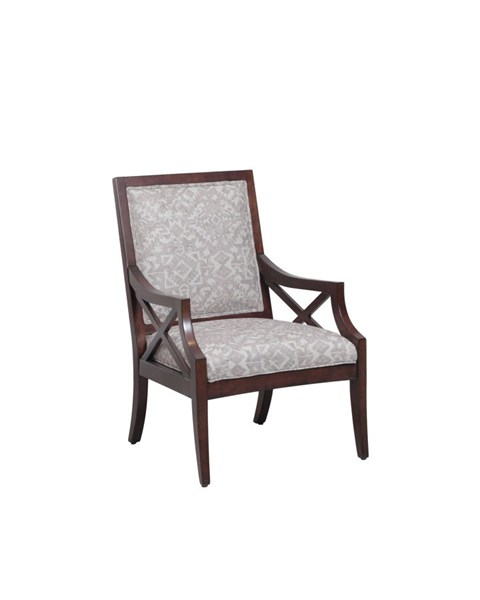 Black Fabric Wood Rambler Upholstered Accent Chair PWL-15S8175