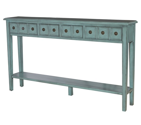 Powell Furniture Sadie Teal Long Console PWL-16A8213T