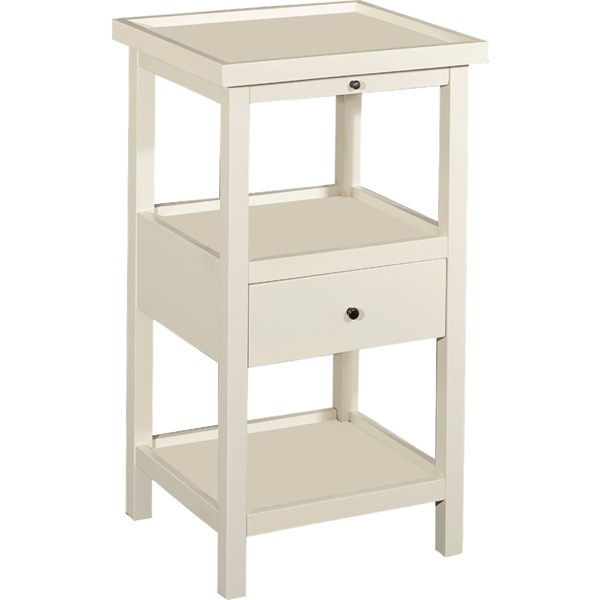 Powell Furniture Palmer White Shelf Table PWL-16A8255W