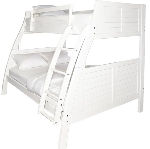Powell Furniture Easton White Twin Over Full Bunk Bed PWL-16Y8185BBW