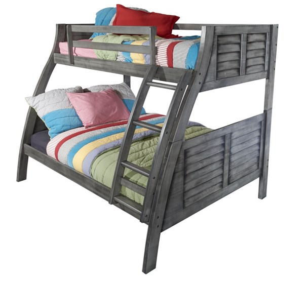 Powell Furniture Easton Grey Twin Over Full Bunk Bed PWL-16Y8185BB