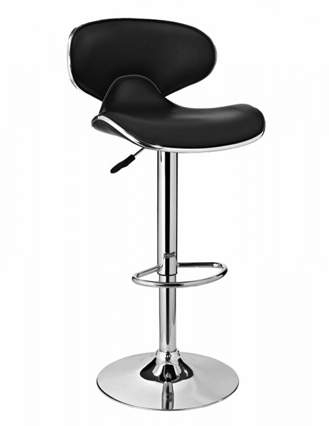 Contemporary Black PU 450MM Chrome Base Bar Stool PWL-171-890
