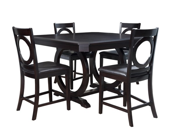 Brigham Cherry Bonded Leather MDF Counter Height / Dining Set PWL-180-441-DR