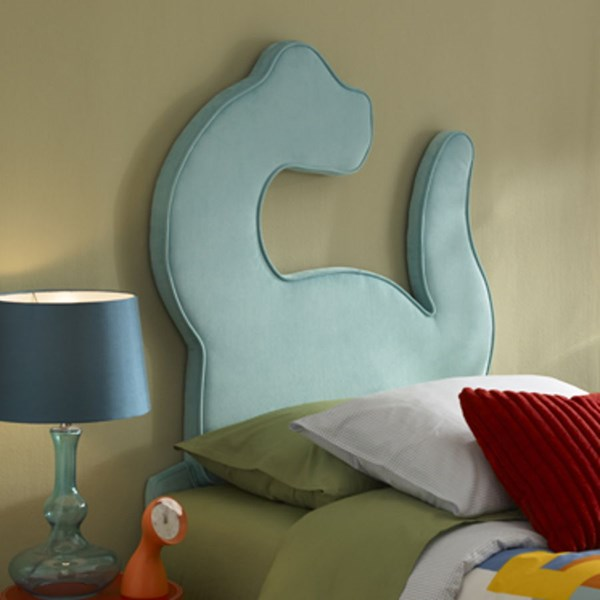Youth Turquoise MDF Polyester Dinosaur Twin Headboard PWL-195-039