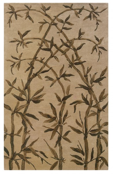 Bombay Modern Brown Ivory Wool Amble Hand Tufted Rug PWL-200-R7-VAR