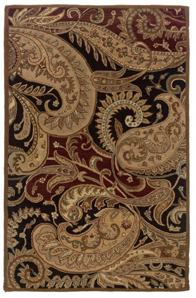Bombay Collection New Wool Paisley Hand Tufted Rectangle Rug PWL-200-R0008-8