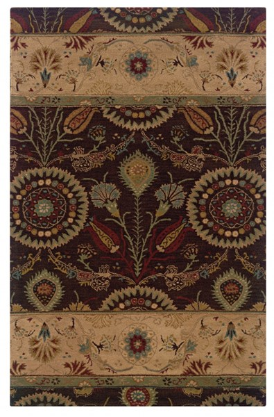 Bombay Collection New Wool Kerala Brown Hand Tufted Rug PWL-200-R0016-8