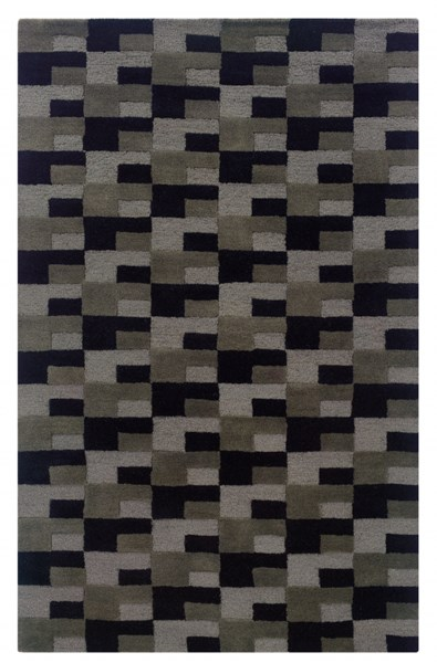 Bombay Collection New Wool Zuma Grey Hand Tufted Rug PWL-200-R0033-8