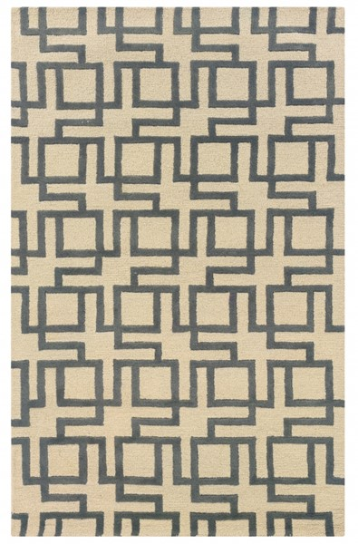 Bombay Collection New Wool Channel Ivory Hand Tufted Rug PWL-200-R0040-8
