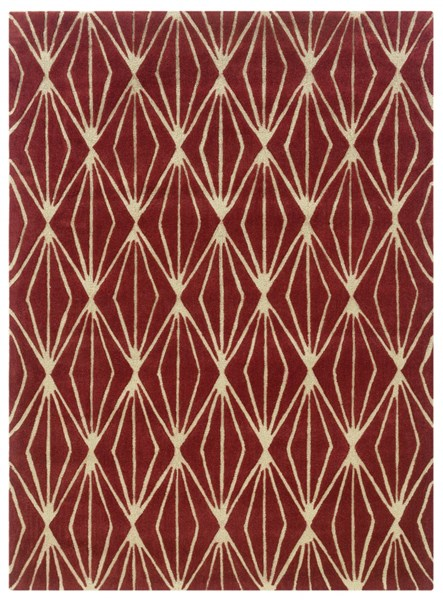 Bombay Modern Rust Fabric Hand Tufted Entwine Rug PWL-200-R46-VAR