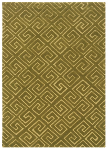 Bombay Collection Polyester Fret Green Hand Tufted Rug PWL-200-R0049-5