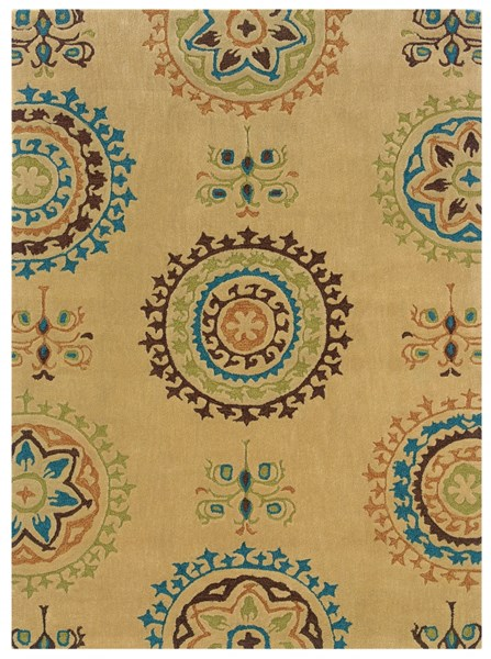 Bombay Collection Polyester Suzani Cream Hand Tufted Rug PWL-200-R0050-2