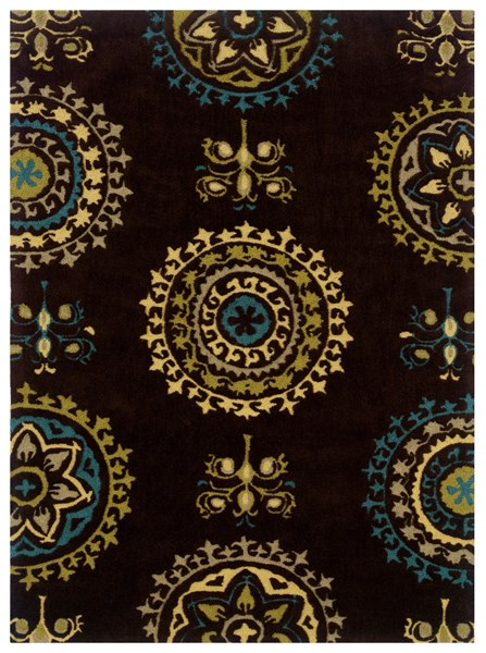 Powell Furniture Bombay Brown Rectangle Suzani Rug The Classy Home