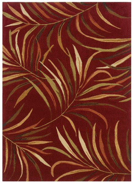 Bombay Collection Polyester Lanai Red Rectangle Rug (96x120) PWL-200-R0054-8