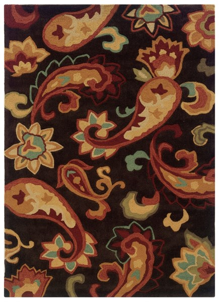 Bombay Collection Polyester Palme Brown Rectangle Rug PWL-200-R0055-2